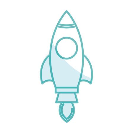 Ilustración de Spacecraft base flat icon vector illustration design image - Imagen libre de derechos