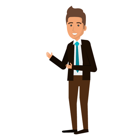 Illustration pour elegant businessman avatar character vector illustration design - image libre de droit