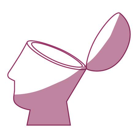 Illustration pour human head icon over white background vector illustration - image libre de droit