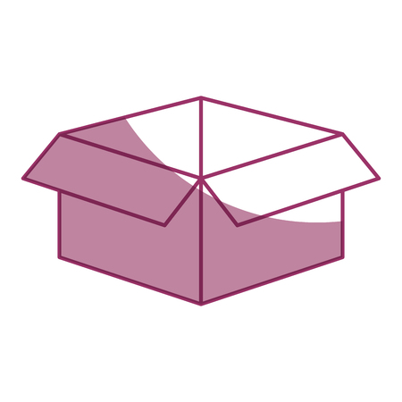 Illustration pour carton box icon over white background vector illustration - image libre de droit