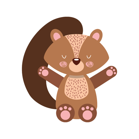Animal squirrel cartoon icon vector illustration design graphic