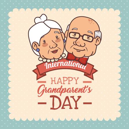 Illustrazione per Happy grandparents day vector illustration graphic design - Immagini Royalty Free