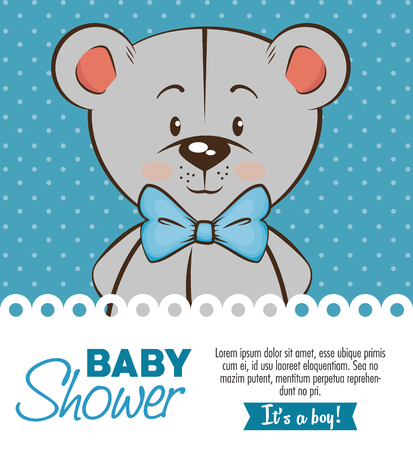 Illustration pour baby shower boy invitation card vector illustration graphic design - image libre de droit