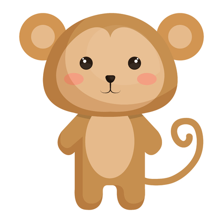 Illustrazione per animal monkey icon vector illsutration design graphic - Immagini Royalty Free