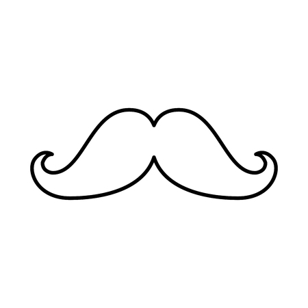 Illustration pour mustache hipster style icon vector illustration design - image libre de droit