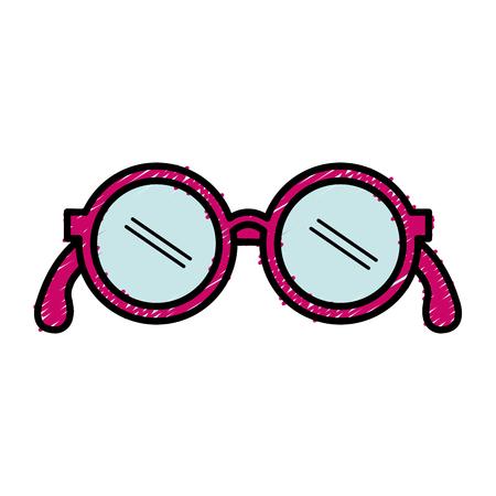 Illustration for grandparents eye glasses icon vector illustration design - Royalty Free Image