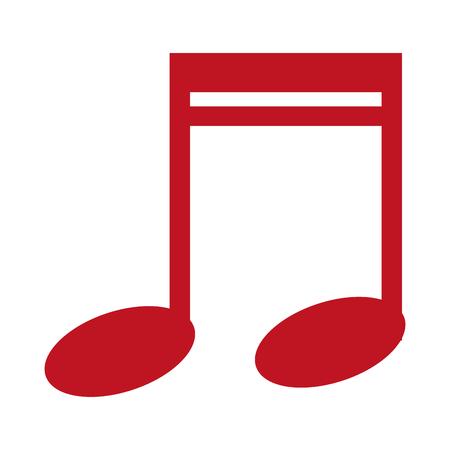 Ilustración de music note isolated icon vector illustration design - Imagen libre de derechos