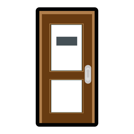 Illustration for door icon over white background colorful design vector illustration - Royalty Free Image