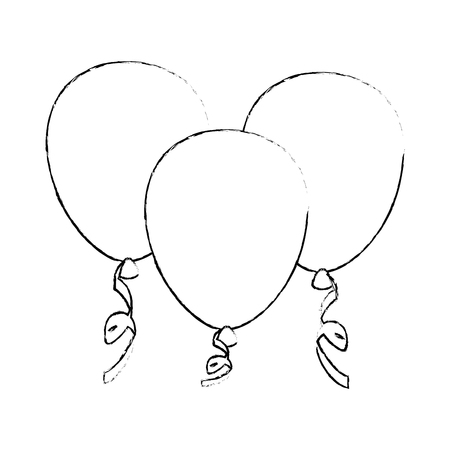 Illustration pour Decorative balloon isolated icon vector illustration graphic design - image libre de droit