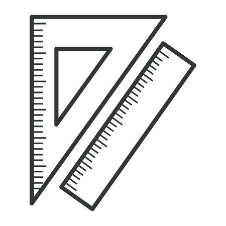 Ilustración de A ruler use in school isolated icon vector illustration design. - Imagen libre de derechos