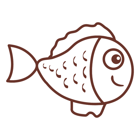 Illustration for cute ornamental fish icon vector illustration design - Royalty Free Image
