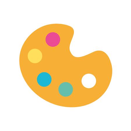 Ilustración de combine color palette icon vector illustration design graphic - Imagen libre de derechos