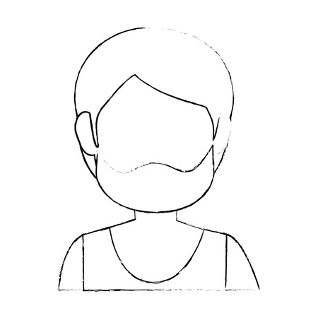 Illustrazione per man faceless head icon vector illustration graphic design - Immagini Royalty Free