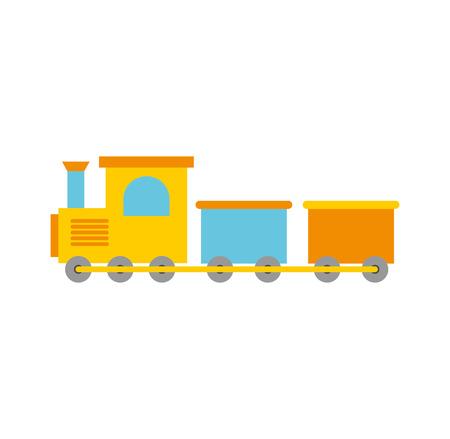 Ilustración de train toy isolated icon vector illustration design - Imagen libre de derechos