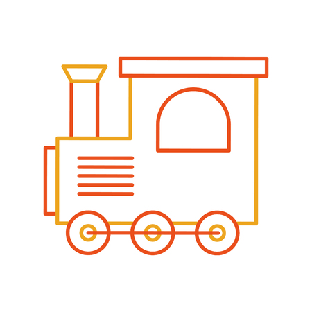 Illustration pour train toy isolated icon vector illustration design - image libre de droit