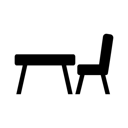 Ilustración de school table isolated icon vector illustration design - Imagen libre de derechos