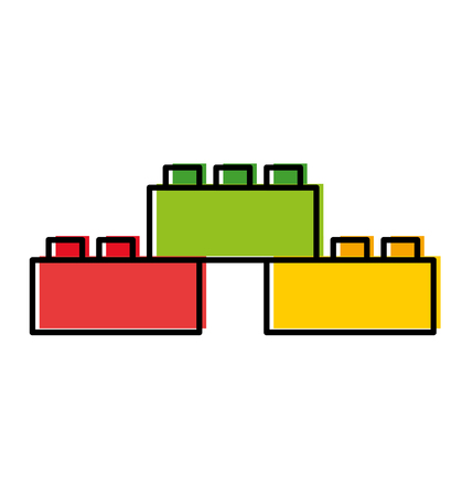 Ilustración de Toy blocks structure icon vector illustration design - Imagen libre de derechos