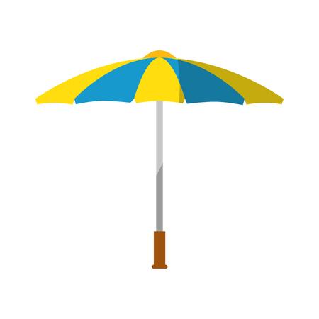 Ilustración de Umbrella weather protection icon vector illustration graphic design - Imagen libre de derechos