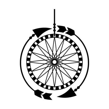 Illustration for Boho style dream catcher vector illustration design - Royalty Free Image