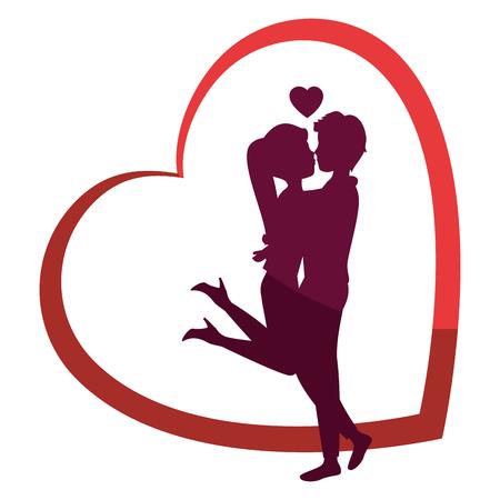 Ilustración de Beautiful and romantic couple icon vector illustration graphic design - Imagen libre de derechos