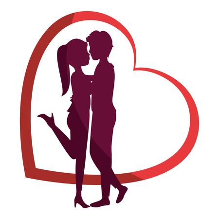 Illustrazione per Beautiful and romantic couple icon vector illustration graphic design - Immagini Royalty Free