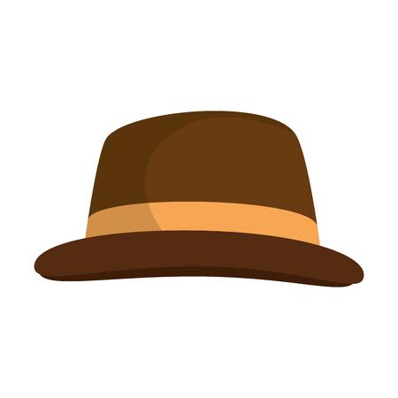 Ilustración de Vintage hat fashion icon vector illustration graphic design - Imagen libre de derechos