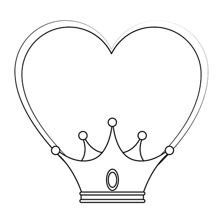 Illustration for King crown luxury symbol icon vector illustration graphic design - Royalty Free Image
