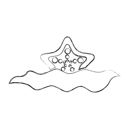 Illustration pour Starfish in water icon illustration design - image libre de droit