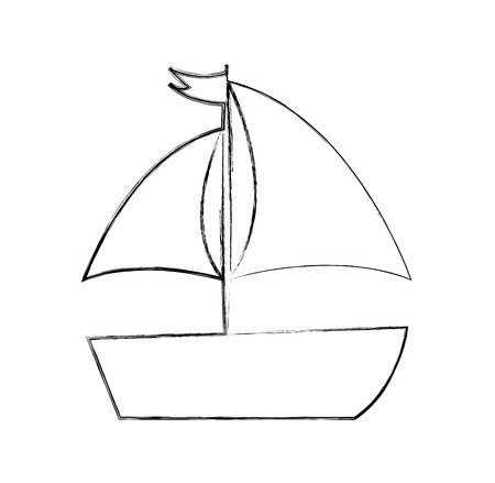 Ilustración de Sailboat sea isolated icon illustration design - Imagen libre de derechos