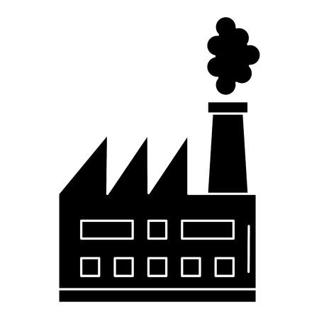 Ilustración de factory plant building icon vector illustration design - Imagen libre de derechos