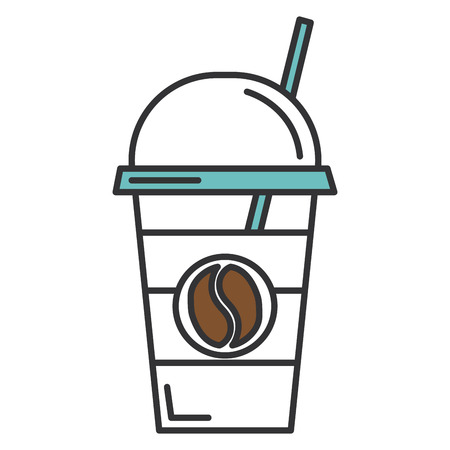 Illustration for coffee cup plastic isolated icon vector illustration design - Royalty Free Image