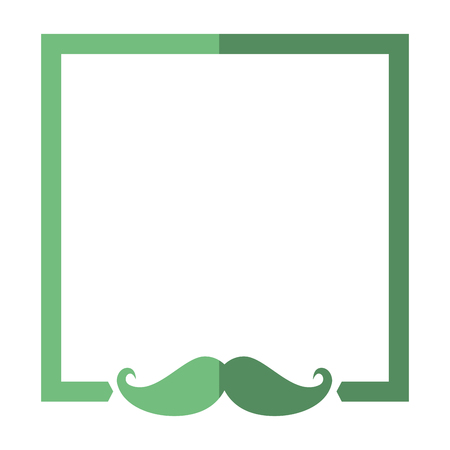 Illustrazione per frame mustache decorative icon vector illustration graphic design - Immagini Royalty Free