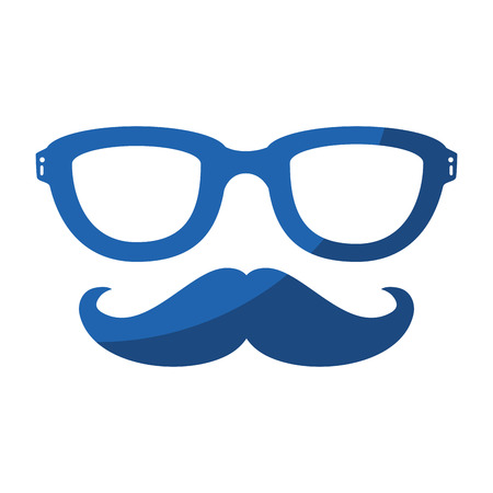 Illustrazione per Vintage male mustache icon vector illustration graphic design - Immagini Royalty Free