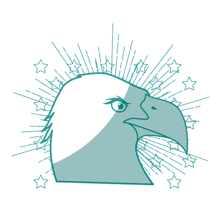Illustration pour eagle bird icon over white background vector illustration - image libre de droit