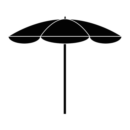 Ilustración de Beach umbrella isolated icon vector illustration graphic design - Imagen libre de derechos