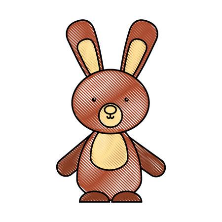 A cute and tender rabbit vector illustration design.