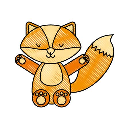 cute and tender fox vector illustration design
