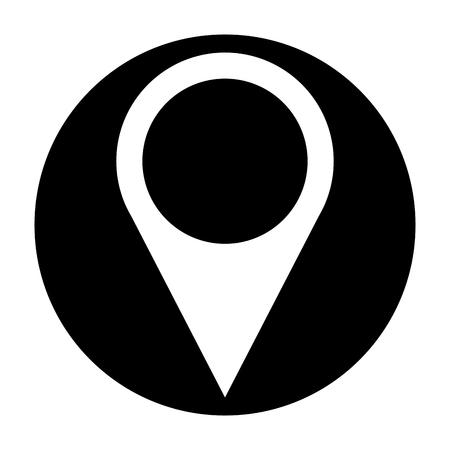 Illustration pour pin pointer location icon vector illustration design - image libre de droit