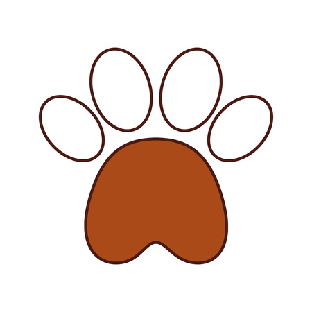 Ilustración de paw footprint mascot isolated icon vector illustration design - Imagen libre de derechos
