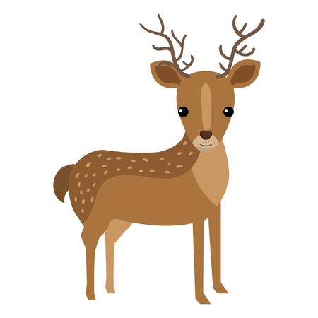 A cute and tender reindeer vector illustration design.