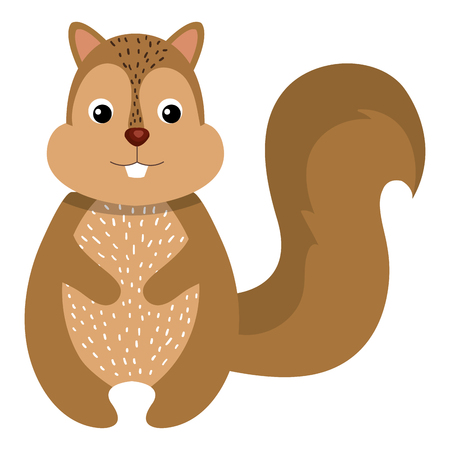 cute and tender chipmunk vector illustration design