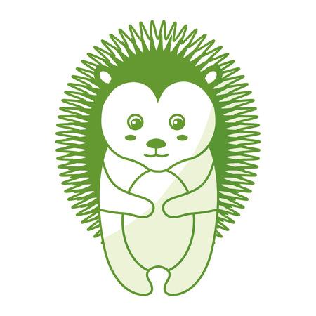 cute and tender Porcupine vector illustration design