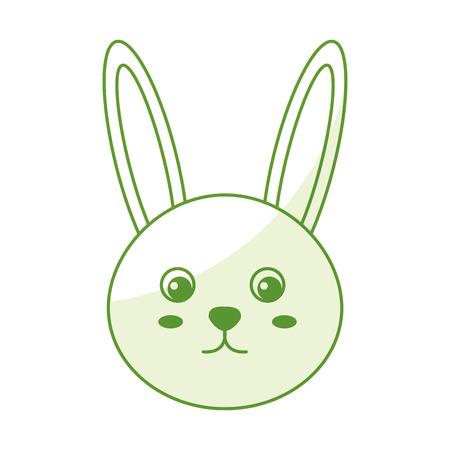 cute and tender rabbit vector illustration design