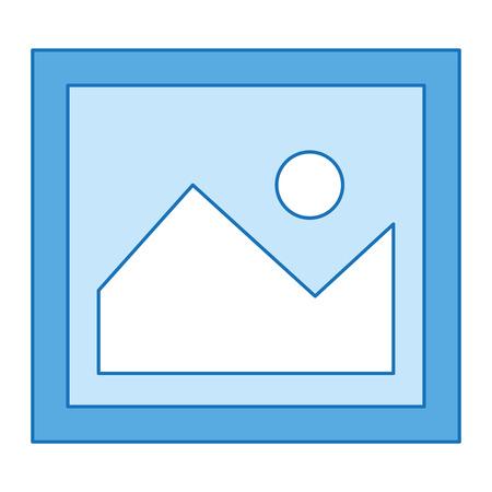 Illustration pour A picture file isolated icon vector illustration design. - image libre de droit