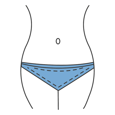 Ilustración de Female waist figure icon vector illustration design. - Imagen libre de derechos