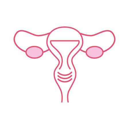 Illustration pour Female reproductive organ icon vector illustration design - image libre de droit