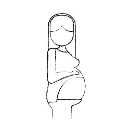 Ilustración de pregnant woman avatar character vector illustration design - Imagen libre de derechos