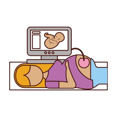 Ilustración de Ultrasound monitor isolated icon vector illustration design - Imagen libre de derechos