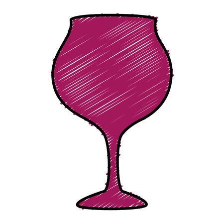 Ilustración de wine cup isolated icon vector illustration design - Imagen libre de derechos