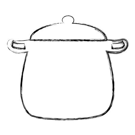 Illustration pour kitchen pot isolated icon vector illustration design - image libre de droit